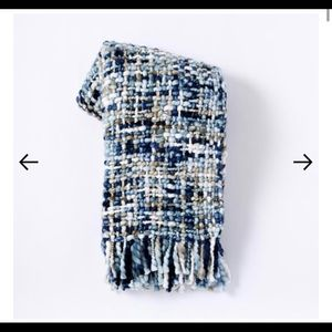 West elm blue weave throw blanket